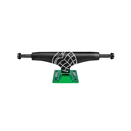 Thunder 148 Flux Sonora Lights Skateboard Trucks Black/Green 8.25