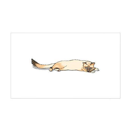 (CafePress Seal Point Siamese Cat Portrait Sticker (Rectangul Rectangle Bumper Sticker Car Decal)