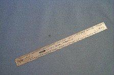 Excel Blades 55777 Scale Model Railroad Ruler, 12