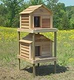 20 Inch Cedar Cat Townhouse : Size SMALL CEDAR TOWNHOUSE - INSULATED