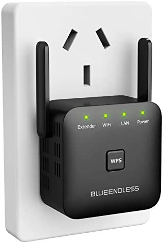 Blueendless Superboost WiFi Extender Signal Booster Long Range Coverage, Wireless Internet Signal Amplifier, Wireless Repeater as much as 300 Mbps, Extends WiFi Coverage to Smart Home Devices