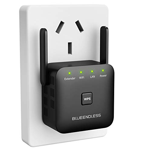 Blueendless WiFi Extender 300 Mbps with WPS Internet Signal Booster Amplifier Wireless Repeater up to 300 Mbps Extends…