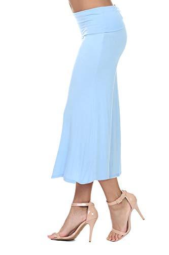 iliad USA 7012 Women's Knit Jersey Capri Culottes Pants Sky Blue - Sky Womens Blue Capris