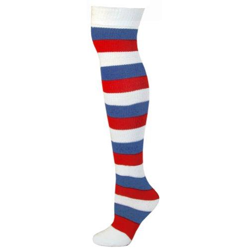 claro Striped azul Calcetines Sja rojo Ajs adulto blanco vwnpCxq
