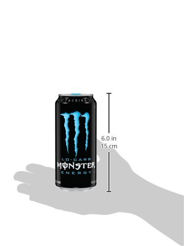 Monster Energy, Lo-Carb, 16 Ounce (Pack of 24)
