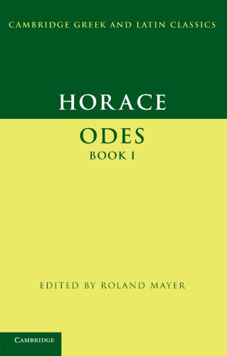 Horace: Odes Book I (Cambridge Greek and Latin Classics)