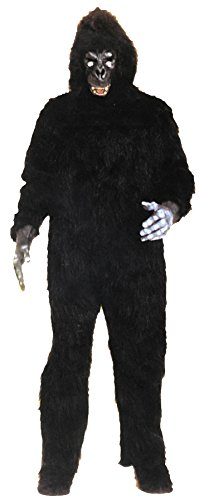 UHC Unisex Gorilla Jumpsuit Animal Jungle Party Mascot Adult Halloween Costume