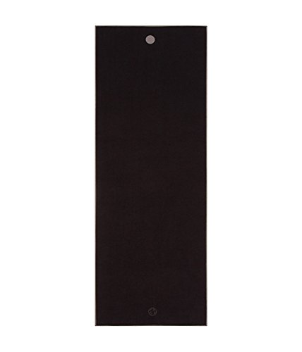 Manduka Earth Collection Yoga Mat Towel, Black