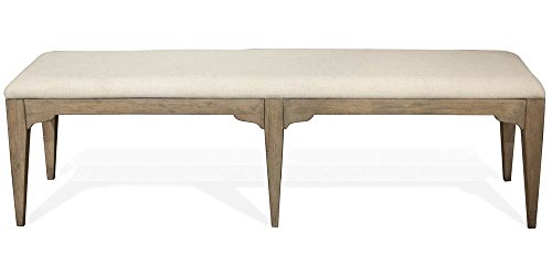 Riverside Dining Furniture - Upholstered Dining Bench in Natural Finish
