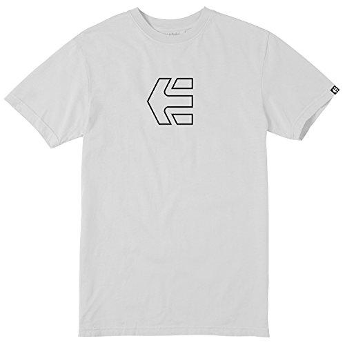 Etnies Skateboard T-Shirt ICON Outline Youth Kids White Size XL - Etnies Kids T-shirt