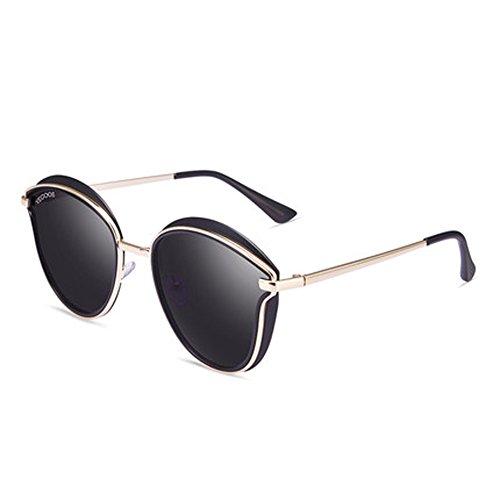 rétro de de lunettes de airB lunettes soleil voyage soleil lunettes soleil Mme de nouvelles plein lunettes ronde cadre polarisées en 58qngX