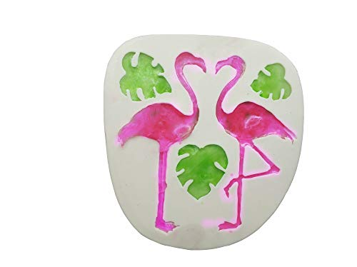 Flamingo/Turtle Leaf Fondant Silicone Mold for Sugar Paste,Candy, Fondant, Butter, Resin, Polymer Clay, Wax, Soap, Crafting Projects