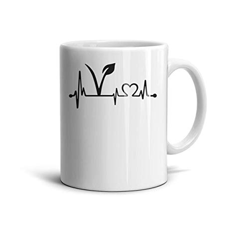 Water Tea Ceramic 11Oz Vegan-Logo-Black-Art- Funny Drinks Cup
