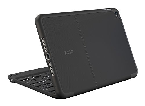 ZAGG Folio Case, Hinged with Backlit Bluetooth Keyboard for iPad mini 4 - Black (Ipad Zagg Case Mini)