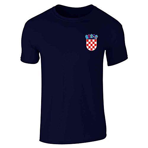 Croatia Soccer Retro National Team Sport Football Navy Blue 2XL Short Sleeve T-Shirt