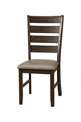 Alpine Furniture 2929-02 Emery Side Chairs, Walnut Finish Alpine Leather Chair