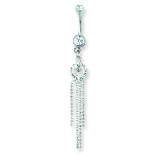 11mm Curv BB w 4m 13//32 1.6mm Jewelry by Sweet Pea SGSS Curv BB w Chain Drop Dangles 14G