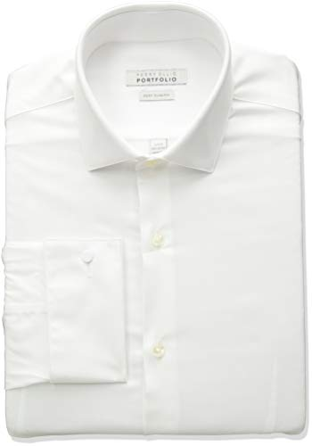 (Perry Ellis Men's Very Slim Fit Wrinkle Free Fashion Dress Shirt, White, 16 32/33)