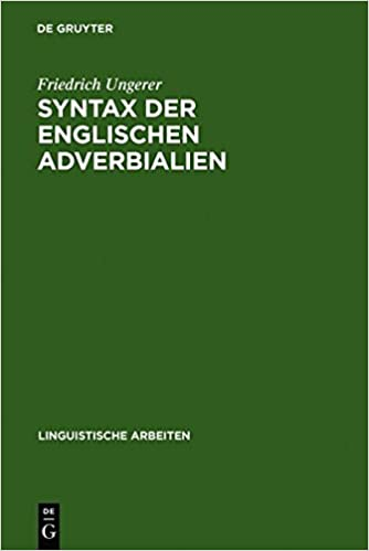syntax der englischen adverbialien ungerer friedrich