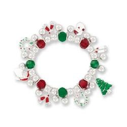 DMM Christmas Holiday Stretch Charm Bracelet