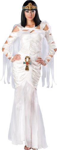 Goddess Isis Adult Womens Costumes (InCharacter Costumes Women's Egyptian Mummy Costume, White, X-Large)