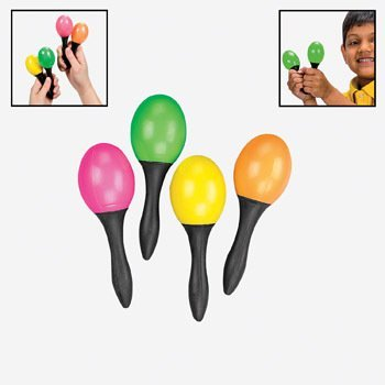 24 Pc Toy Maracas - Small - 12 Pair Per Order - Great Party Favors for Fiesta! by Natorytian