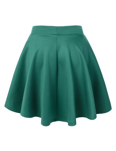 MBJ Womens Basic Versatile Stretchy Flared Skater Skirt S JADE - Buy Online  in Oman.  344c16905