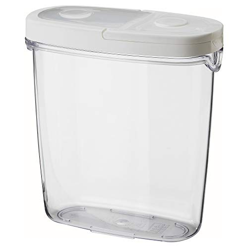 IKEA 800.667.23 365+ Dry Food Jar with Lid, Clear, White