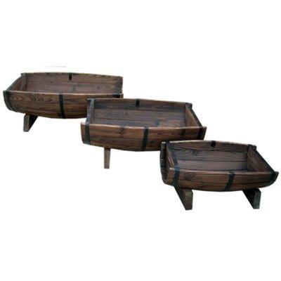 Rectangular Half Barrel Planters (Set of 3)