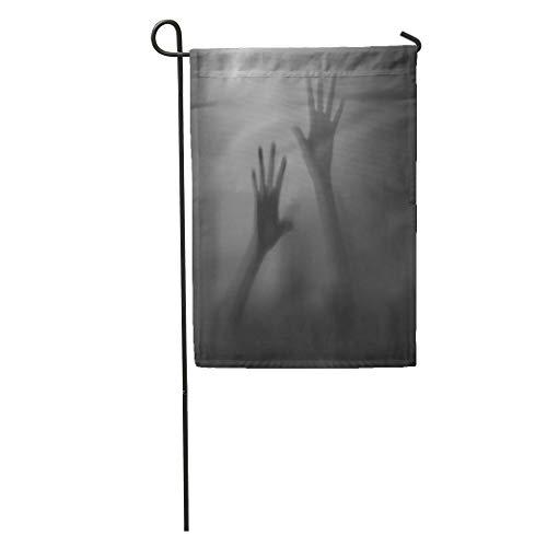 Semtomn Garden Flag Abuse Shadow of Hands Behind