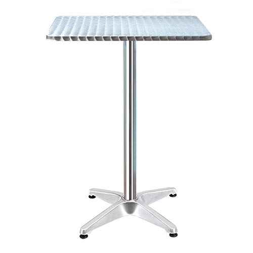 Gardeon Bar Table Outdoor Furniture Adjustable Aluminium Pub Cafe Indoor Square
