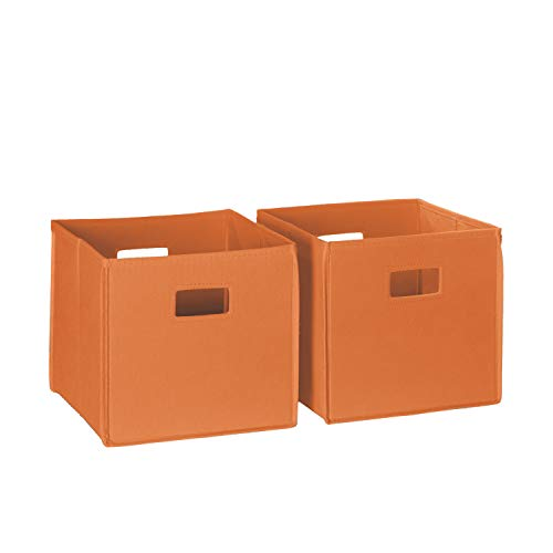 RiverRidge 02-013 2-Piece Folding Storage Bin, Orange