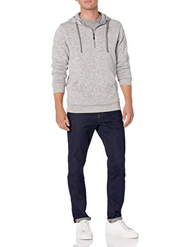 Amazon brand – Goodthreads Men's Sweater-Knit Fleece Long-Sleeve Half-Zip Hoodie