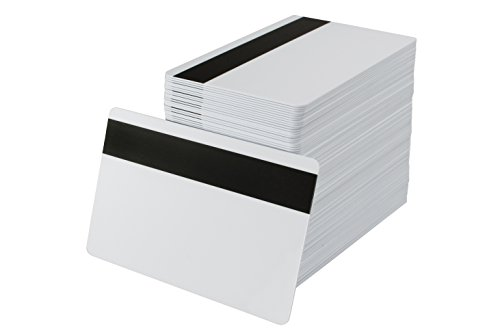 Pack of 500 White CR80 PVC Cards with Hi-Co Magnetic Stripe | 30 Mil ()