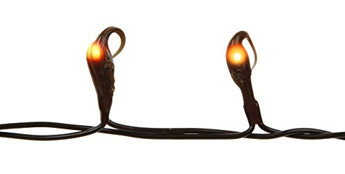 Darice 50-Light Teeny Silicone Bulb Light Set with Brown Cord