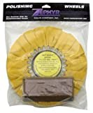 """Zephyr AWY58-8WB Yellow 8"""" Airway Buffing Wheel with 1 LB Tripoli Bar Heavy/Medium Cut"""