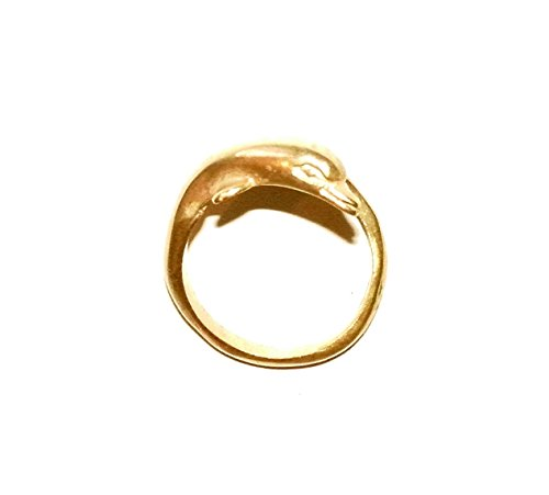 Dolphin Ring Sterling Silver Gold Plating 24K (24k Dolphins Earrings)