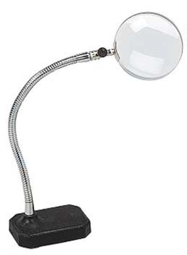 MAGNADESK  Flexible 12-Inch Gooseneck 2x Magnifier with Weighted Base: ()