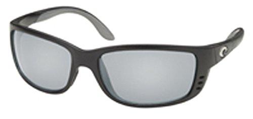 Costa Del Mar Sunglasses Zane Shiny Black Polarized Silver Mirror - Sunglasses Costa Zane