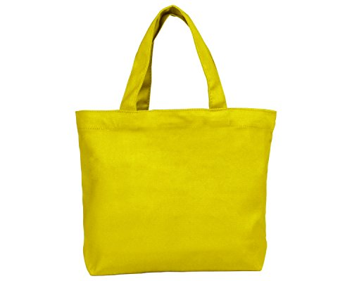 Set of 12 - Small Yellow Tote Bags 11x8.5x2.5