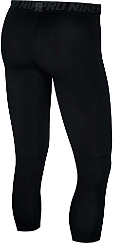 Nike Men's Pro 3/4 Length Tights (Black/Anthracite/White, M) by Nike (Image #2)