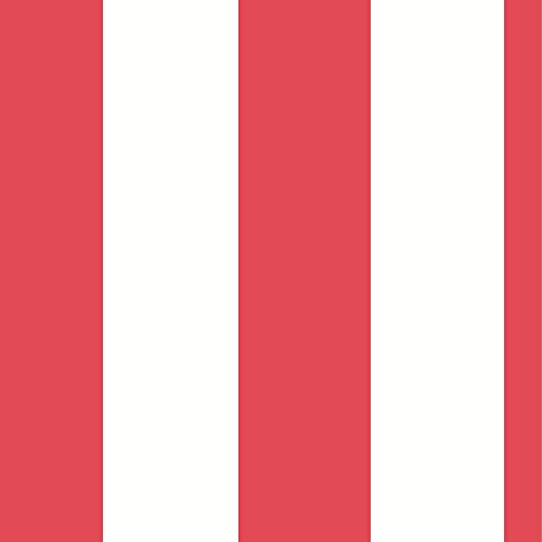 Stripe Wallpaper Red and White Rasch 286915
