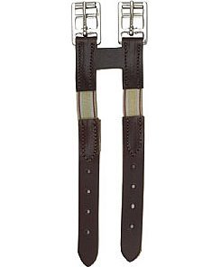 Perri's Leather Girth Extender with Elastic, Havana, One ()