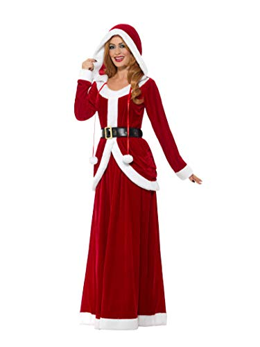 Smiffys Women's Deluxe Ms Claus Costume, Red, Large -