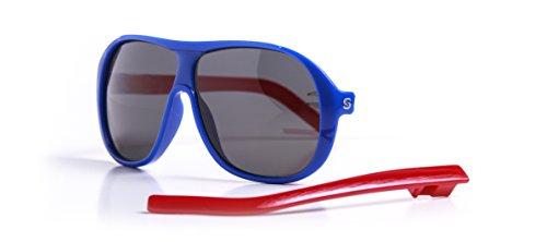Slydz Kids Aviators Polarized Sunglasses (Blue) for Toddler Boys and Girls (Straps Sunglass Wholesale)