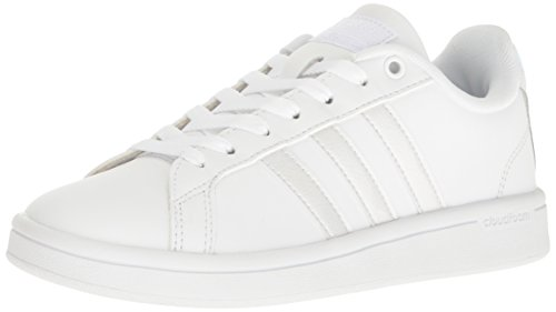 adidas Women's Cf Advantage Sneaker White/Black, (10 M US) -