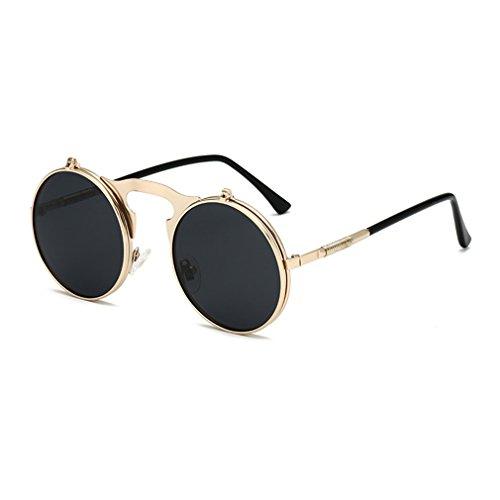 Gafas De Para Mujeres Polarizadas Retro Estilo Vintage Gafas C2 Estilo De Retro Vintage Abatibles Hop Hombres Y Sol Steampunk Unisex Hip wIaxI8qH