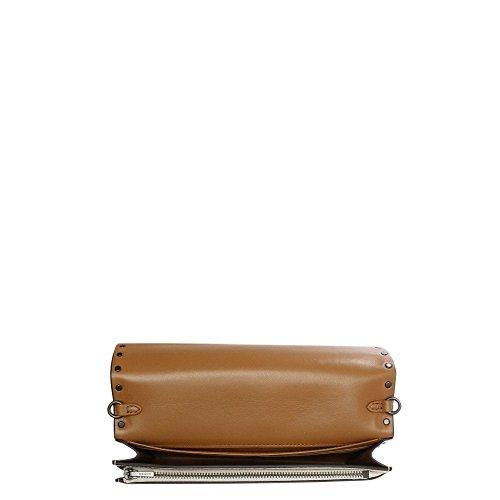 Tracolla A Pochette Di Gesso Leather White Coach Rivetti In Pelle qSwIPnX