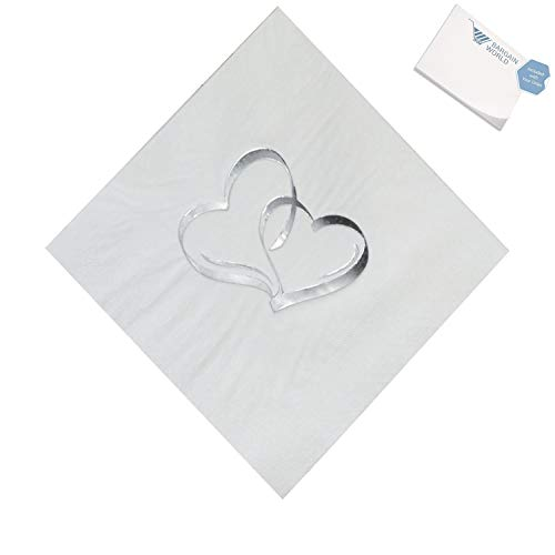 Bargain World Paper Two Hearts Luncheon Napkins (With Sticky Notes)