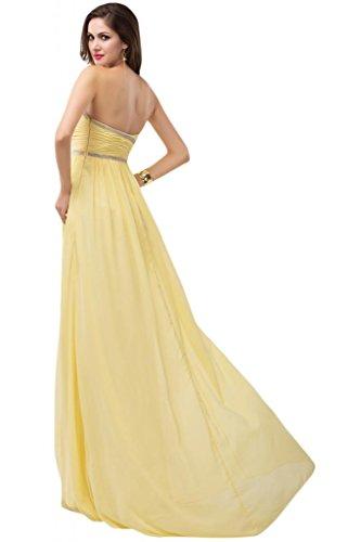 sunvary Mujer parte trasera abierta para vestidos de dama de honor Prom Noche Fiesta de Gasa fucsia